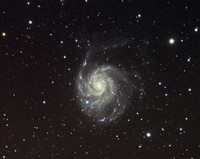 M 101 The Pinwheel Galaxy . Taken last year and showing the supernova.