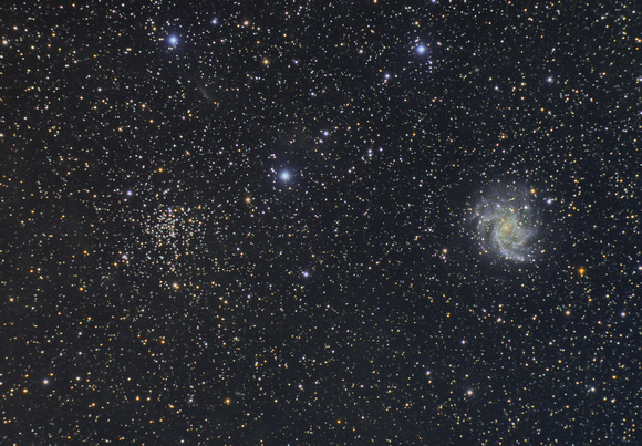 The Fireworks Galaxy and open Cluster Cepheus